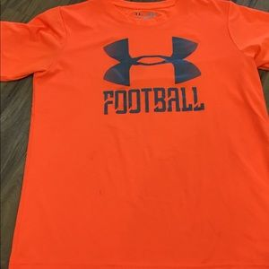 Neon orange UA Football